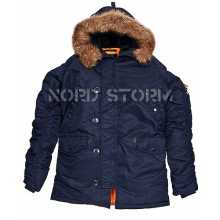 Парка Аляска Nord Storm N3B HUSKY, navy/orange, новая