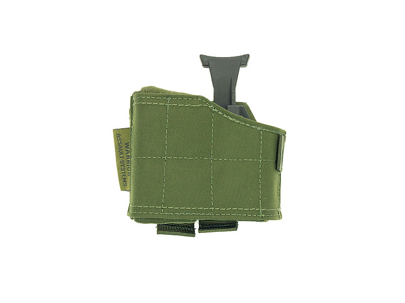 Кобура Universal Pistol Holster Warrior Assault Systems универсальная, MOLLE, левая, цвет – Olive Drab Green